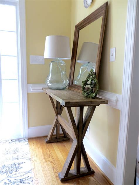How To Make An Entryway Table by White X Entryway Table Diy Projects