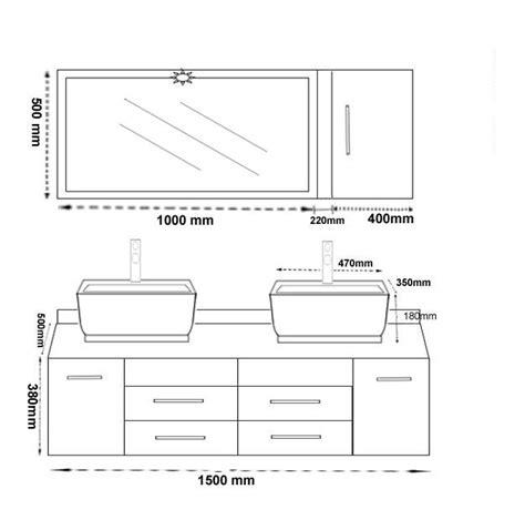 hauteur de meuble de cuisine meuble salle de bain hauteur