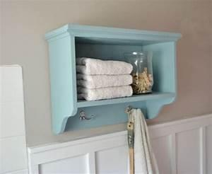 Ana White Martina Bath Wall Storage Shelf with Hooks