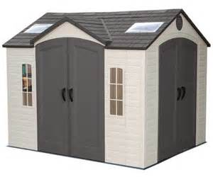 lifetime garden sheds 60001 dual entry storage shed 8 x 10 garden sheds