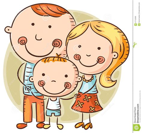 happy cartoon family   child stock vector image