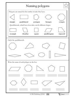 Naming Polygons  Worksheets & Activities  Greatschools  Student Teaching Pinterest