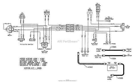 dixon ztr   parts diagram  wiring assembly