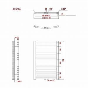 Heizkörper Berechnen : hochwertiger aqua badshop badheizk rper weiss gerade 775h x 500b anschluss links ~ Themetempest.com Abrechnung