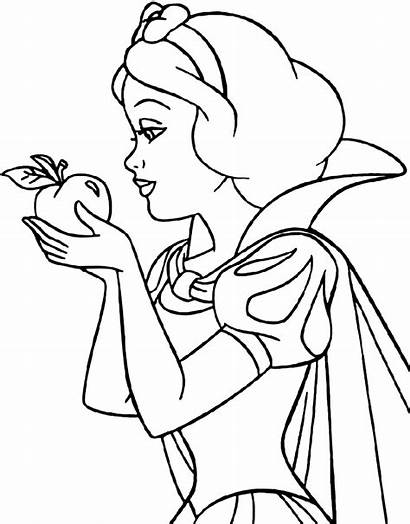 Snow Coloring Pages Printable Drawing Disney Apple