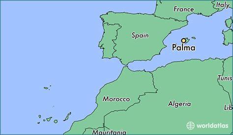 palma spain palma balearic islands map worldatlascom