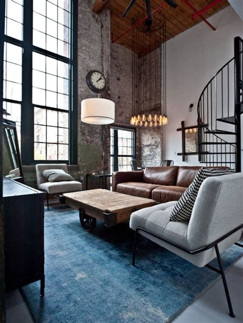 Industrial Style Wohnzimmer by Best Industrial Living Room Design Ideas Remodel