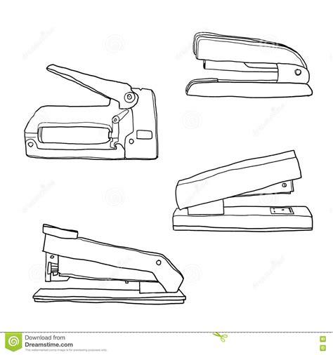 agrafeuse de bureau illustration mignonne fournitures de bureau de vintage d
