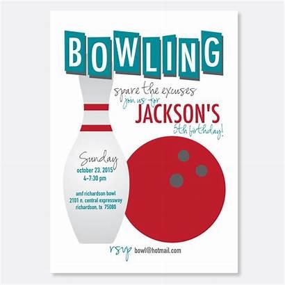 Bowling Party Birthday Invitation Invitations Clipart Invite