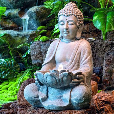 Bouddha De Jardin Solaire by Fontaine Bouddha 224 Led Interieur Exterieur Sujet