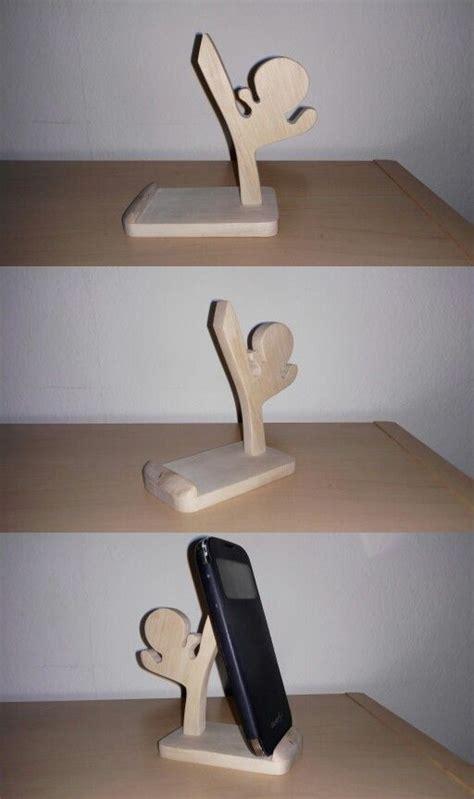 wood mobile phone holder  scrollsaw wood phone holder