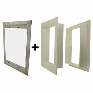 Gun dog house doors easy big dog door w pvc wall trim kit for Dog house with a door