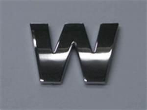style 6 smallest letters 75quot small chrome letters w With small chrome letters