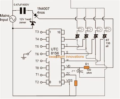 christmas light chaser circuit 8 function christmas light circuit