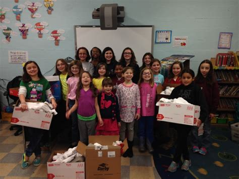 girl scouts deliver socks love homeless euclid observer