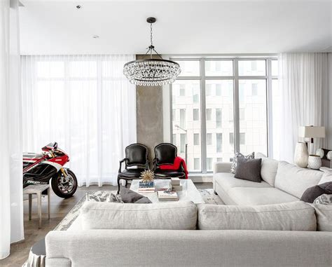 living room  ducati motorcycle contemporary living room