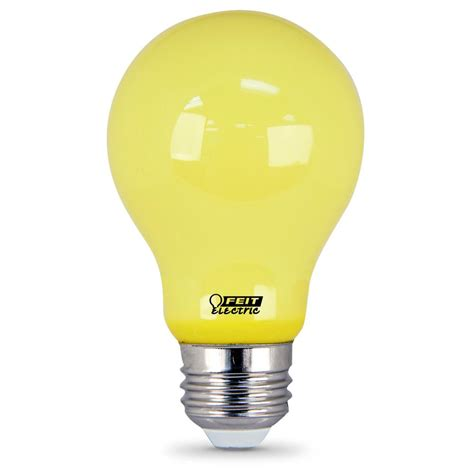 home depot lava l bulb feit electric 60w equivalent a19 yellow led bug light bulb