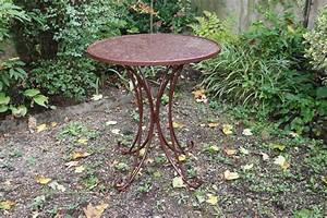 Gartentisch Metall Antik : bistrotisch metall antik stil gartentisch 75cm garten bistro tisch braun ebay ~ Watch28wear.com Haus und Dekorationen