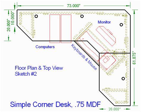 corner computer desk woodworking plans diy