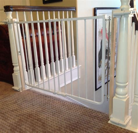 Baby Gate For Top Of Stairs With Banister And Wall custom baby gate wall and banister no holes installation
