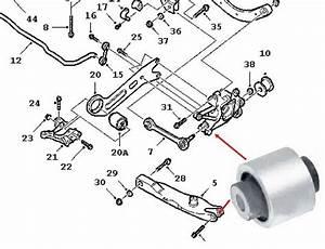 For Vauxhall Opel Vectra C Rear Suspension Axle Hub Bush