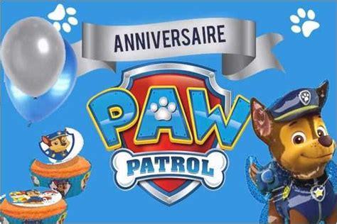 Invitation Anniversaire Pat Patrouille à Imprimer Nouveau
