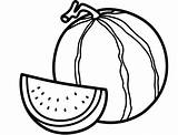 Watermelon Coloring Pages Printable Print Cute sketch template