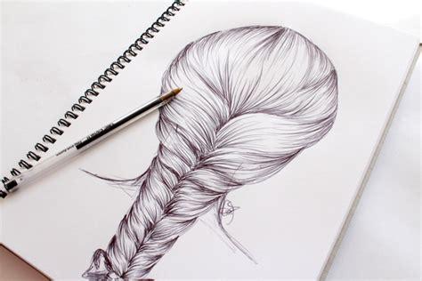 drawn braid step  step pencil   color drawn braid