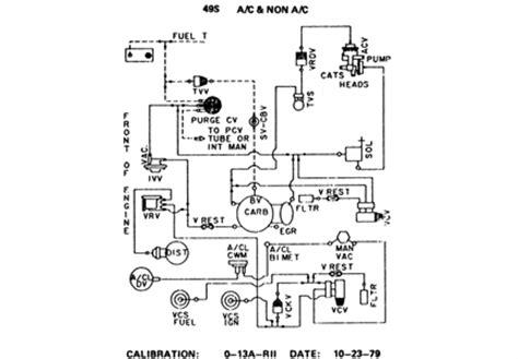 Lincoln Continental Engine Vacuam Hoses Diagram
