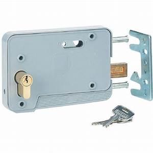 serrure a cylindre pour porte de garage thirard achat With porte de garage sectionnelle avec cylindre serrure