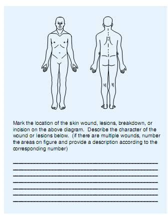 Body Chart for Wound Care Documentation