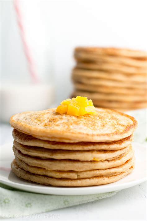 Peach Pie Pancakes Amy Healthy Baking