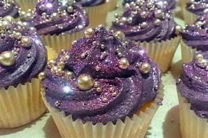 Purple bejeweled cupcakes #cupcakes #purple #jewels ...