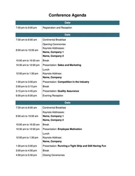 training seminar agenda template conference agenda