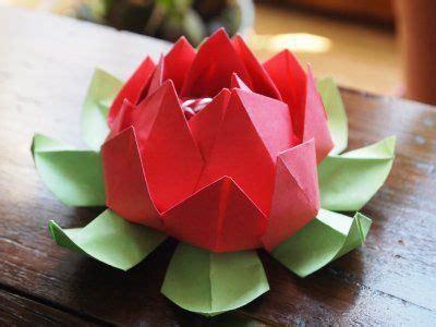 origami fleur de lotus papier fleur de lotus origami fleur et origami