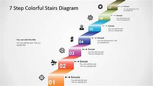 7 Step Colorful Stairs Diagram For Powerpoint