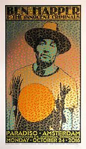 Ben Harper, Paradiso, Amsterdam Poster - Chuck Sperry