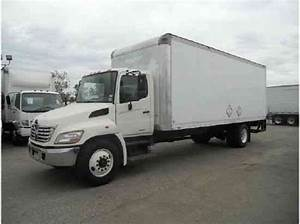 Hino 338 Box Truck 24ft Box W   Large Liftgate 33  000  Air