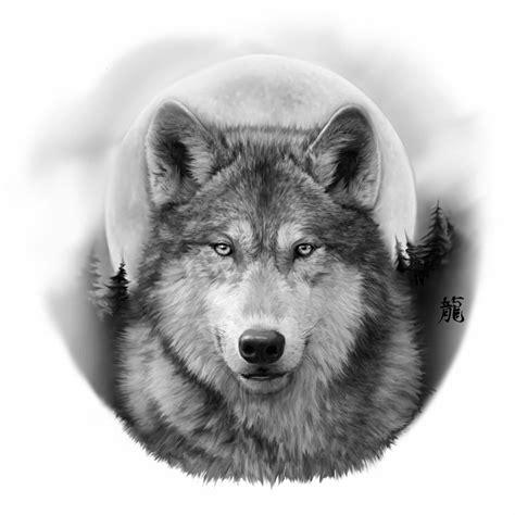 black  grey realistic wolf tattoos wolf tattoos