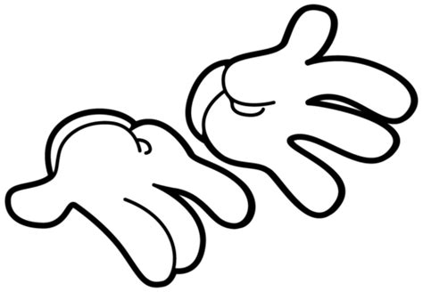 mickey mouse hand mickey mouse clipart 101 clip