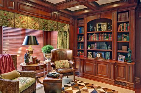 mahogany home libraryoffice
