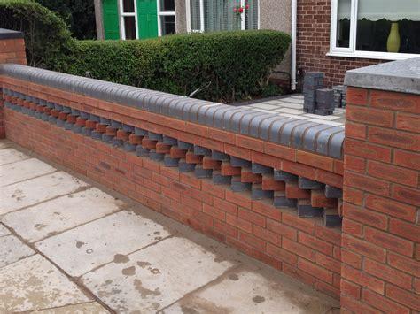 front garden brick wall designs modern front garden