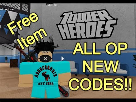 Be careful when entering in these codes, because they need to be. (Read Desc)ALL OP NEW CODES 🔧 Tower Heroes - YouTube
