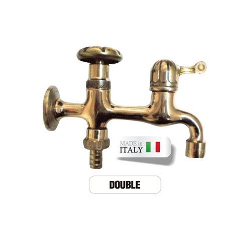rubinetto doppio rubinetto doppio ottone portagomma attacco rapido