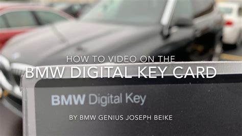 The bmw digital key is as slim as a credit card but can be used to replace a conventional key. BMW Digital Key Card How-To - YouTube