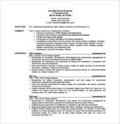 hvac technician sample resumes hvac resume template 10 free word excel pdf format