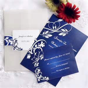 blue wedding invitations royal blue pocket wedding invitations with free rsvp cards ewpi055 as low as 1 69