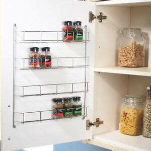 Back Of Door Spice Rack by Chrome 4 Tier Back Of Door Spice Rack Spice Holder Packet