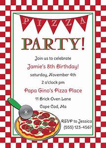 pizza party birthday invitation by anchorbluedesign on etsy With pizza party flyer template free
