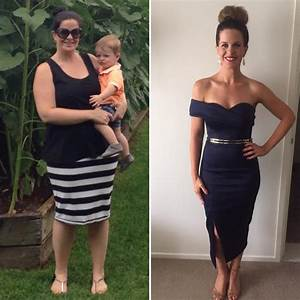 Gorgeous mum compares life before and after her 19kg ...